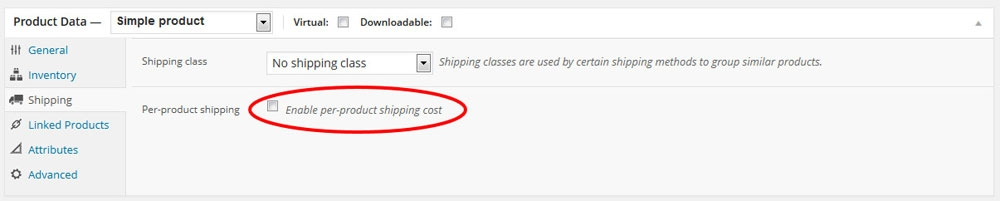 per product shipping 1