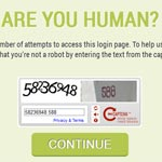 This Captcha page blocks automated brute force attacks